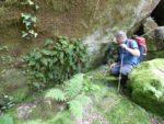2016: Galicia, Spain, Tim admires <i>Vandenboschia speciosa</i>