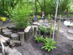 Newly landscaped area