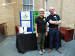 Bridget and Peter manning the BPS stand