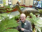 Paul with a 'Pteridologist' in the ferns with Iggy